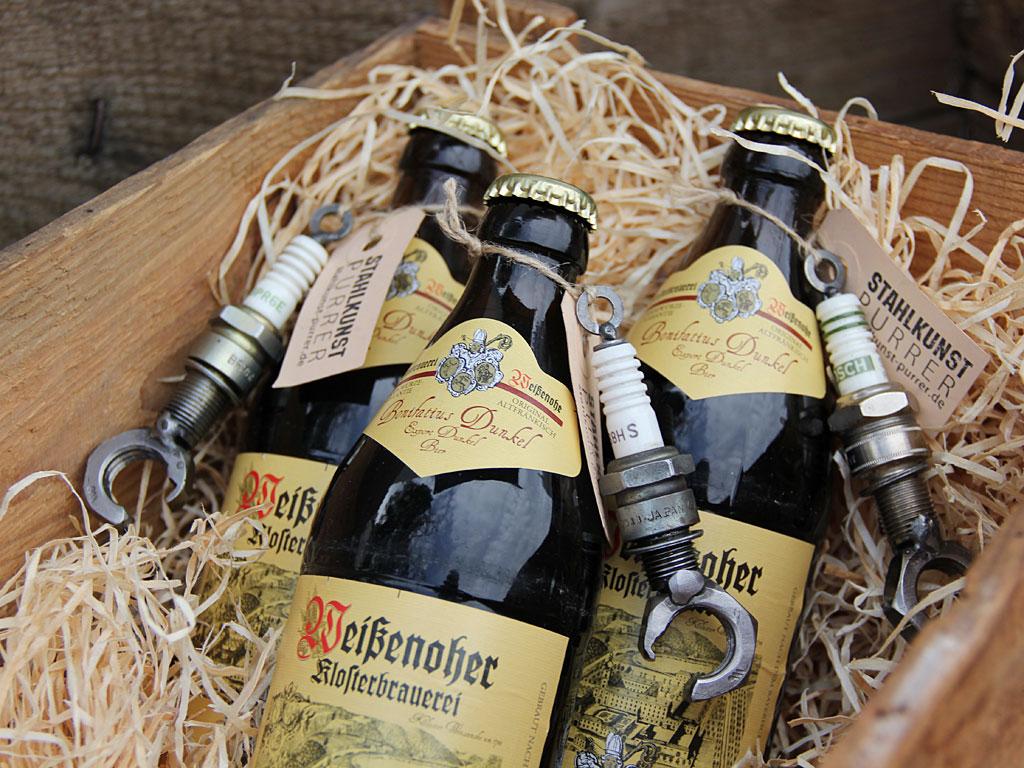 Geschenkset Flaschenöffner mit Bier
