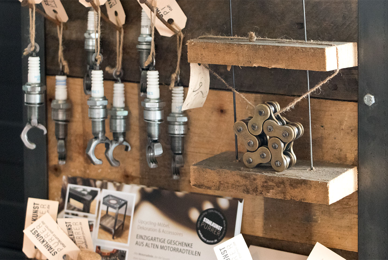 Stahlkunst Purrer im Motorradhaus Ebert in Höchberg