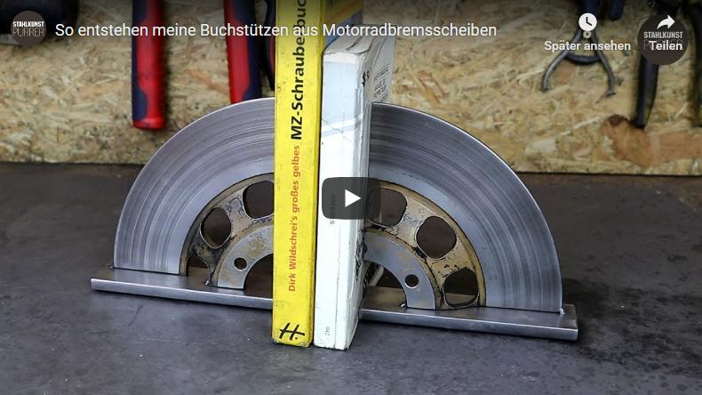 Youtube-Video Bremsscheibenbuchstütze