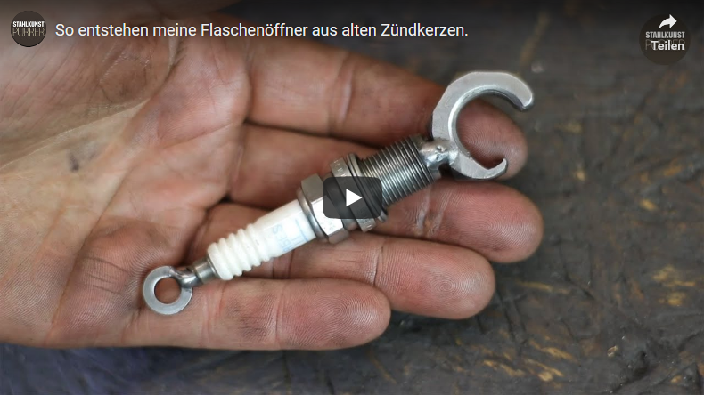 Youtube-Video Zündkerzenflaschenöffner