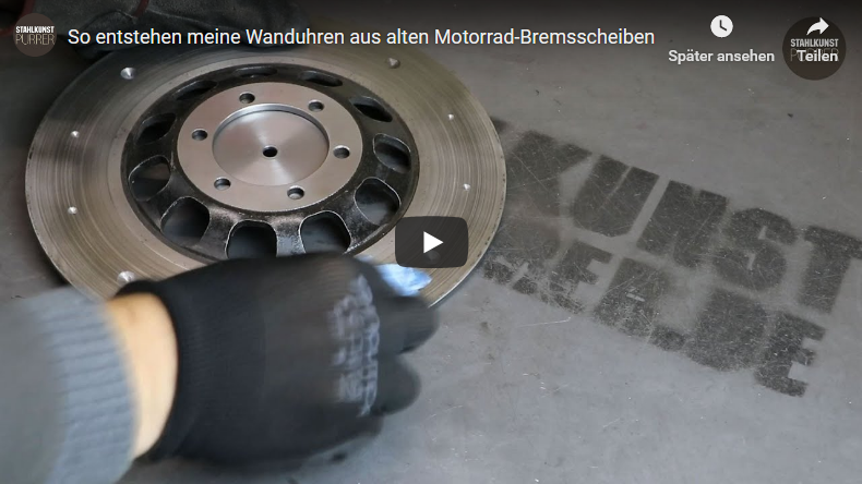 Youtube-Video Bremsscheibenuhr