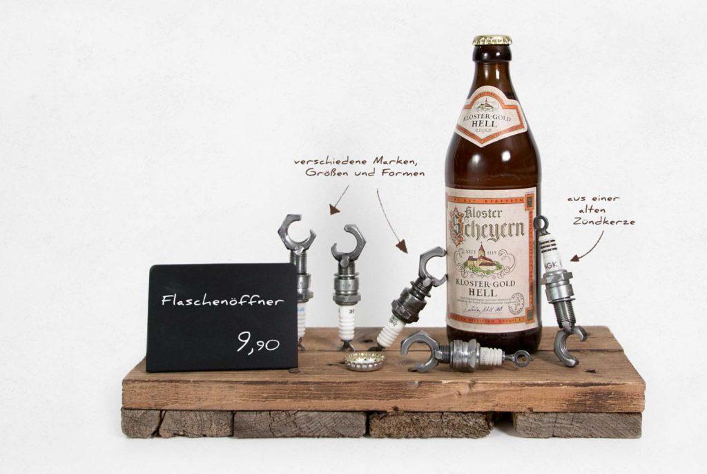 Flaschenöffner aus einer alten Zündkerze
