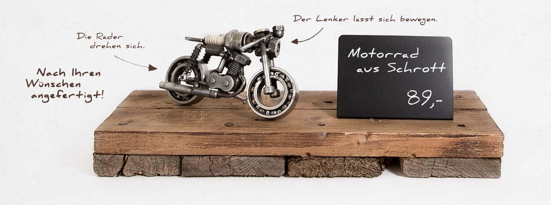 Motorradmodell aus einer alten Zündkerze - MZ Café Racer