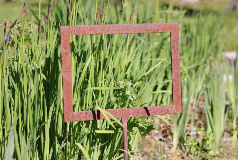 Bilderrahmen für den Garten